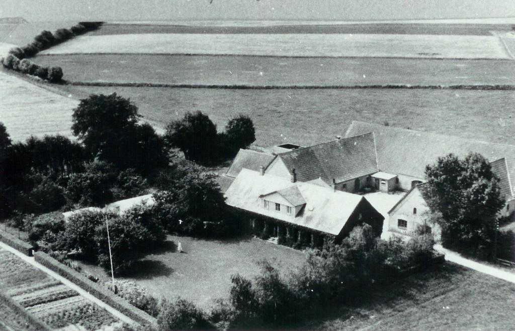 Luftfoto af Højgård omkring 1939